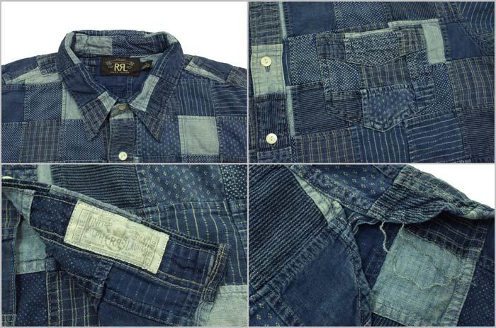 rrl ralph lauren double rl stdm 2 indigo patchwork shirt - Ralph Lauren Indigo