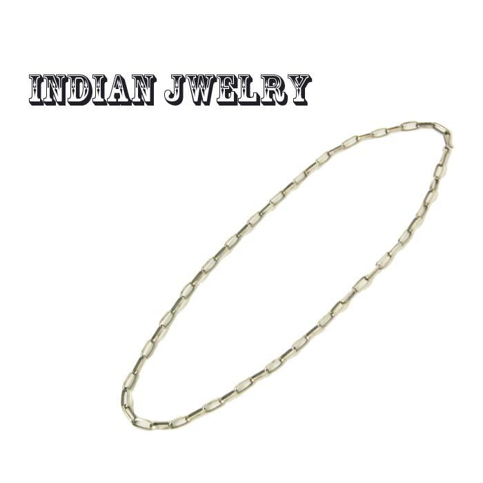 INDIAN JEWELRY インディアン ジュエリー シルバーチェーン ネックレス(61cm) あす楽