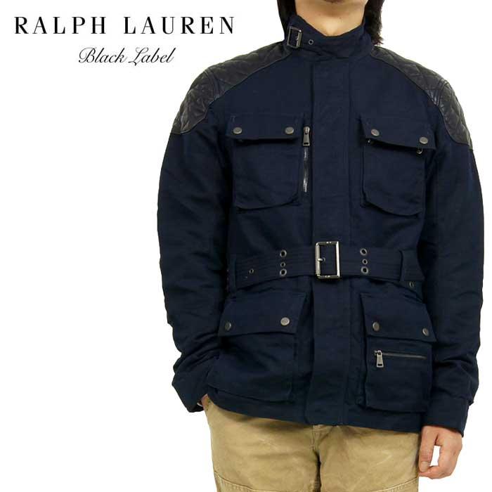 BLACK LABEL by Ralph Lauren ブラックレーベル リネン×コットン モーターサイクル ジャケット あす楽