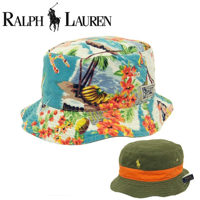 POLO by Ralph Lauren Polo Ralph Lauren reversible Aloha Hawaiian bucket Hat 6487b1ddc2b