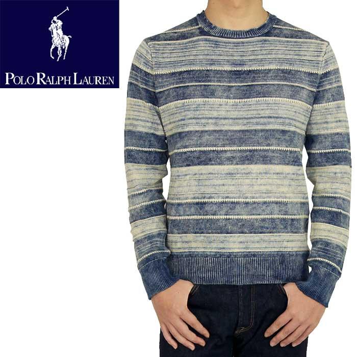 0baa1fecb BEEF  POLO by Ralph Lauren Ralph Lauren Indigo border cotton sweater ...