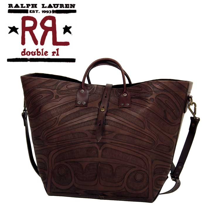 cf73e13248 BEEF  RRL Ralph Lauren DOUBLE RL Robertson leather tote bag ...