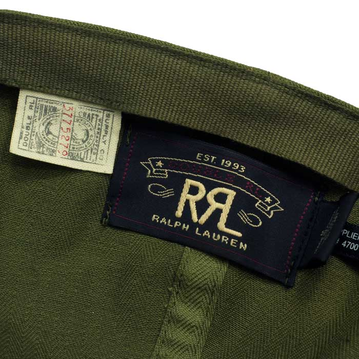RRL Ralph Lauren DOUBLE RL double Aurel herringbone military Cap