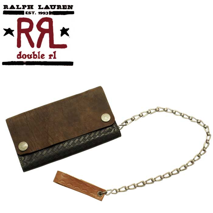 RRL Ralph Lauren DOUBLE RL double Aurel RYDER CHAIN WALLET leather wallet