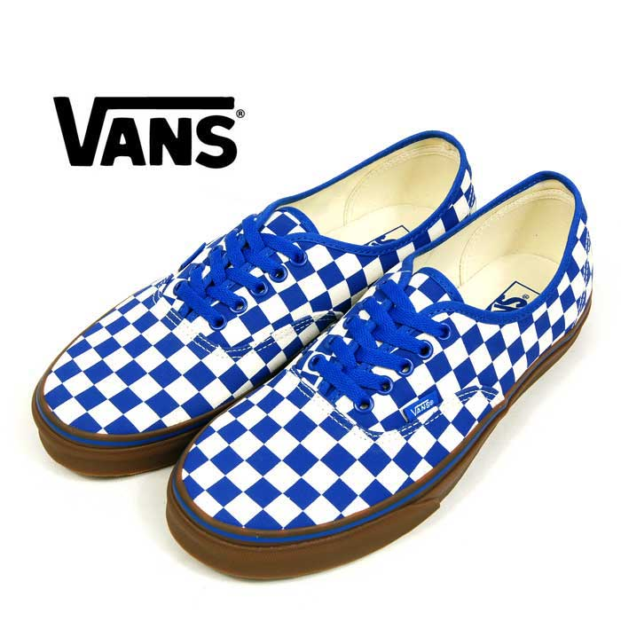 f0fef552d2 BEEF  VANS AUTHENTIC vans checkered flag authentic white   blue ...