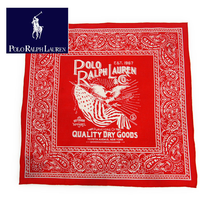 Ralph By Paisley Polo Bandana Red Lauren WHD2IE9