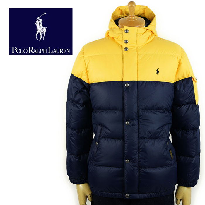 d9b3b6710 Down jacket dark blue / yellow with the Ralph Lauren POLO by Ralph Lauren  Boys two ton food