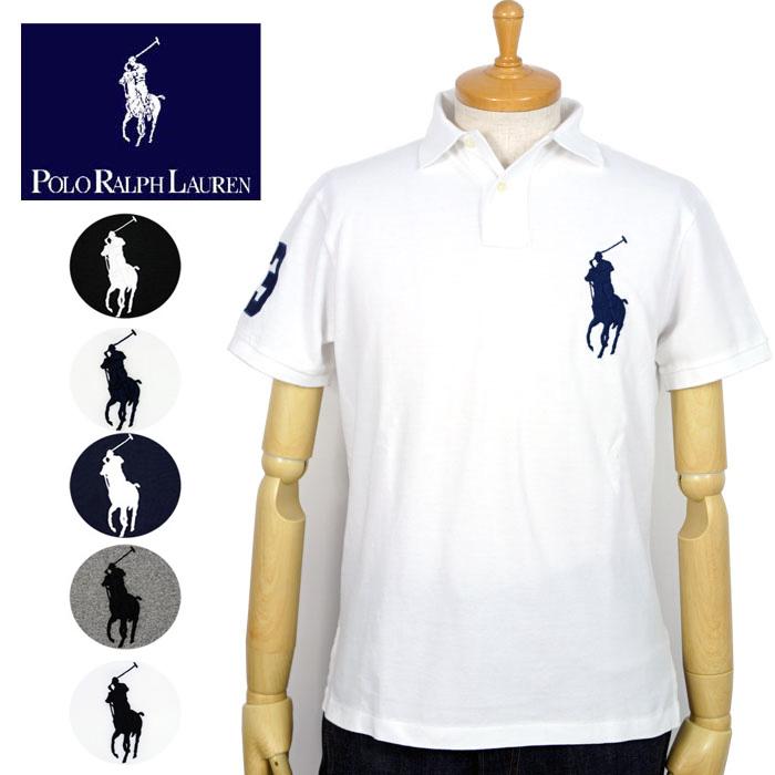 Ralph Lauren POLO Ralph Lauren BIG PONY custom fitting big pony polo shirt  4 color