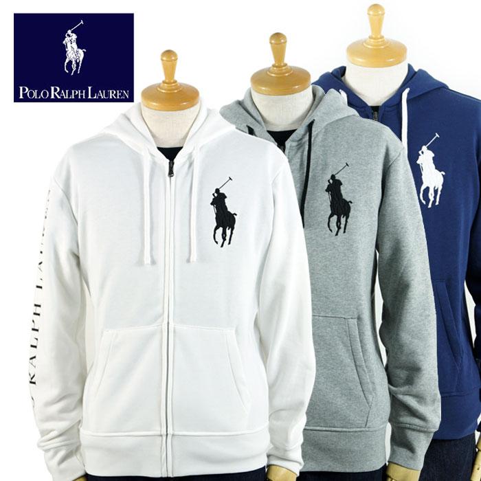 Ralph Lauren Polo Big Pony White Full-Zip Hooded Jacket