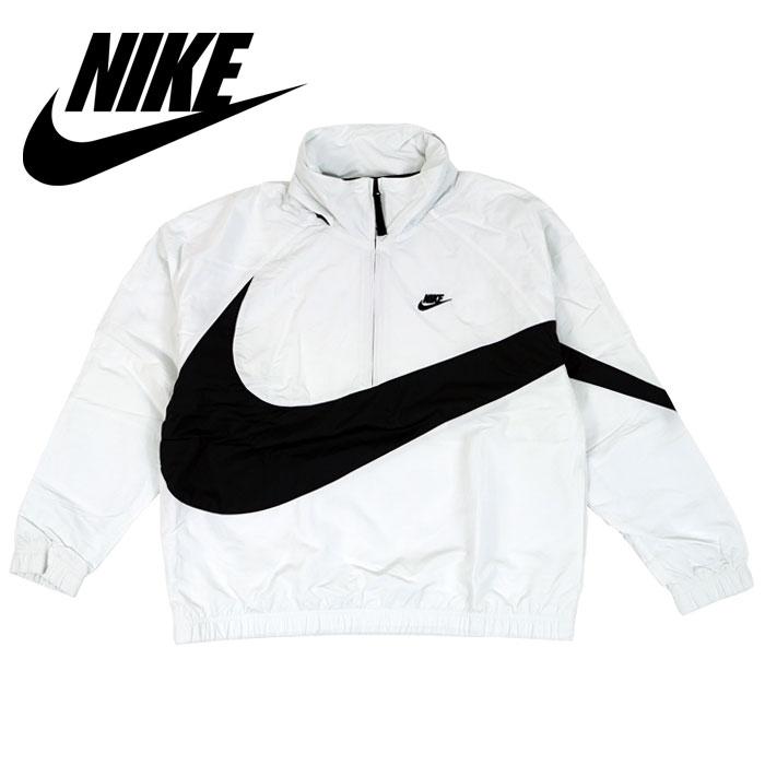 ナイキ Nike ビッグスウォッシュ アノラック ジャケット Jacket Nike ジャケット Big Swoosh Anorak Half Zip Jacket ホワイト, 最新のデザイン:9259a02c --- economiadigital.org.br