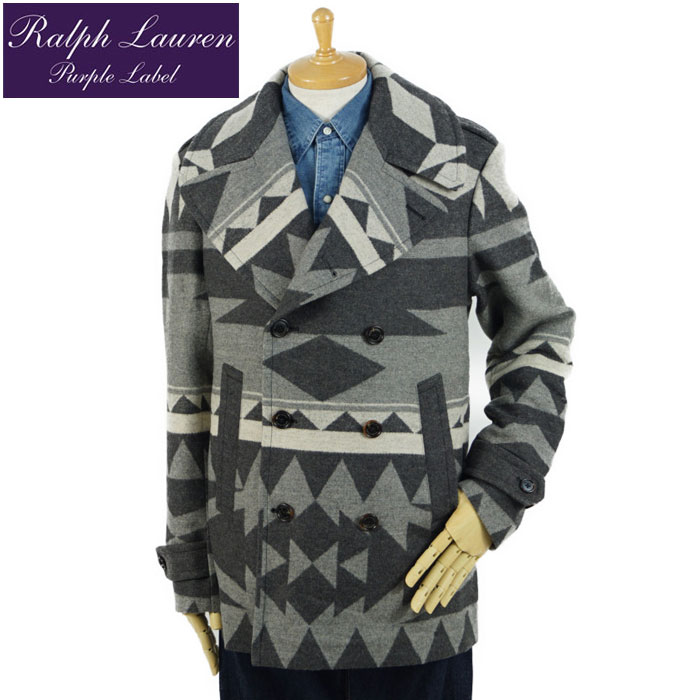 competitive price coupon code los angeles Purple label Ralph Lauren PURPLE LABEL Ralph Lauren native wool pea coat