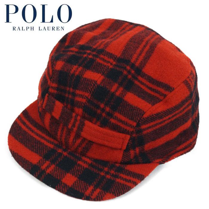 eb5954bd7 Ralph Lauren POLO Ralph Lauren wool hunting cap /RED/BLK