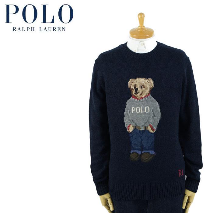ラルフローレン POLO Ralph Lauren ポロベアー セーター ネイビー 灰POLOニット