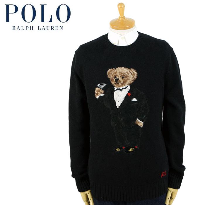 ラルフローレン POLO Ralph Lauren ポロベアー カシミア セーター ブラック タキシード マティーニ
