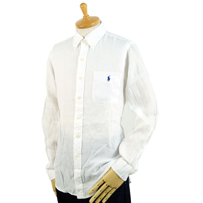 4f216228 BEEF: One point pony linen button-down shirt with the Ralph Lauren ...