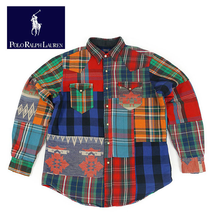 Polo Patchwork Western Shirt Lauren Flannel Ralph c4AR5L3qj
