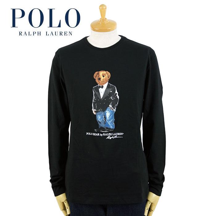 ラルフローレン POLO Ralph Lauren ポロベアー ロングスリーブTシャツ タキシード ブラック