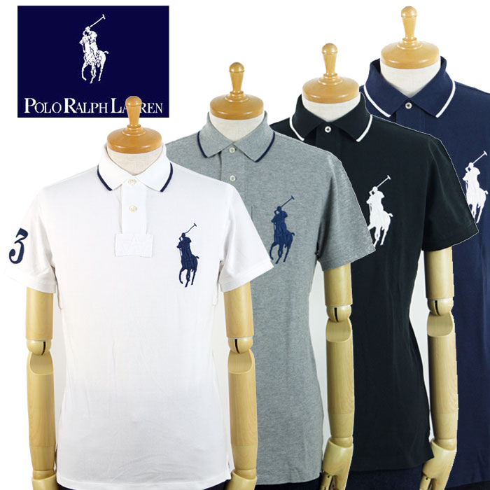 b14d6a4a Ralph Lauren POLO Ralph Lauren BIG PONY custom fitting big pony polo shirt  4 color