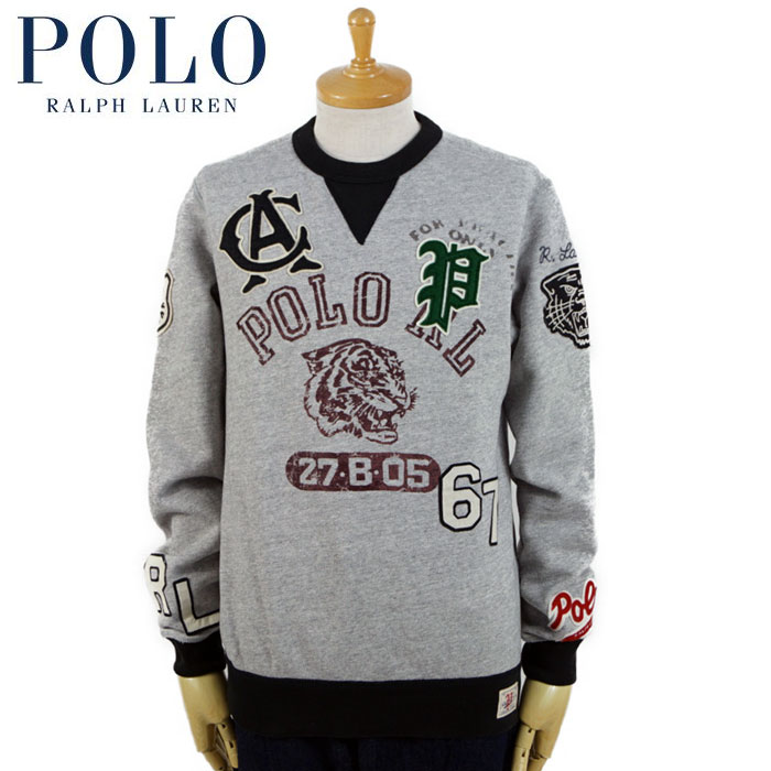 Emblem Shirt V Before College Polo Sweat Gray Lauren Ralph trodsQCBhx