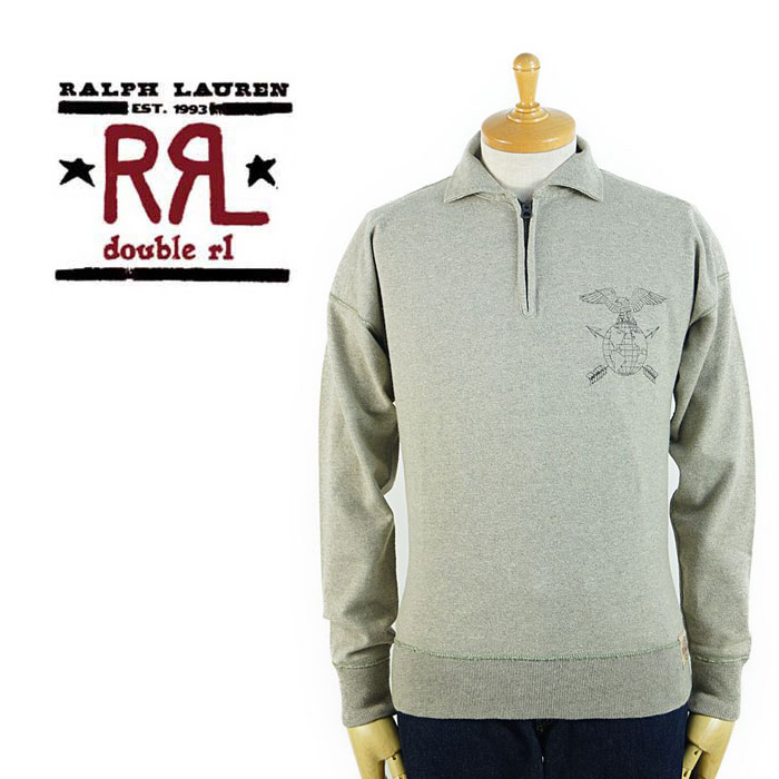 fast delivery the best new products Double are L RRL Ralph Lauren DOUBLE RL half zip sweat shirt