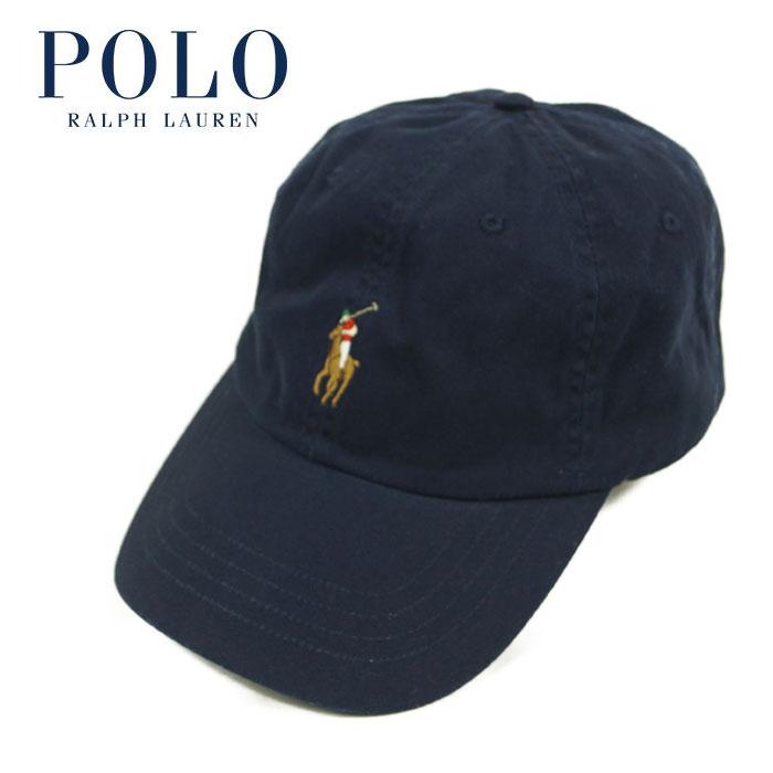 ラルフローレン 年間定番 ワンポイント ポニー キャップ CAP カラーポニー Ralph ネイビー Lauren 新作通販 POLO