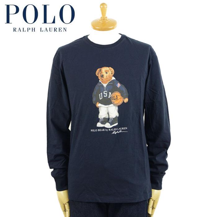 ラルフローレン ポロベアー Tシャツ 最新 ロンT 長袖Tシャツ POLO ネイビー 激安通販販売 Ralph ロングスリーブTシャツ Lauren USA