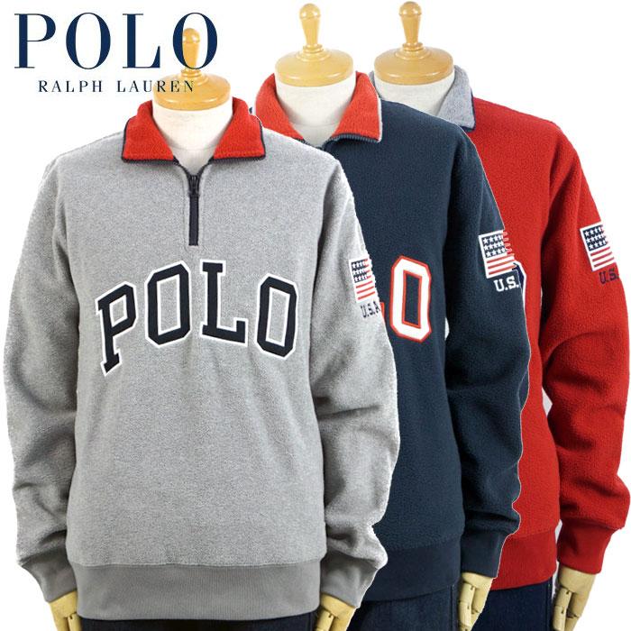 ラルフローレン POLO Ralph Lauren フリース ハーフジップ ジャケット 3カラー