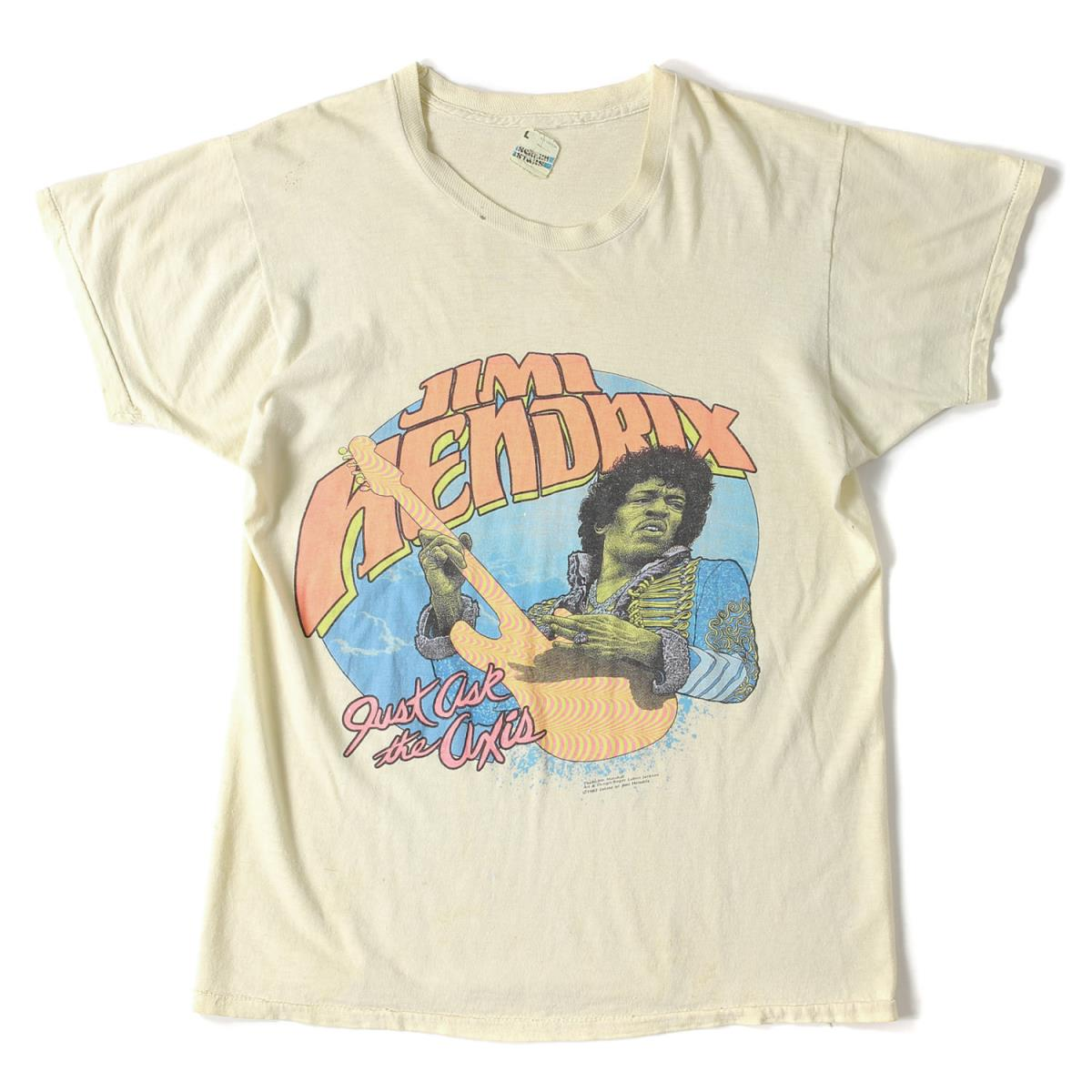 "JIMI HENDRIX(ジミ・ヘンドリックス) 82' ""Just ask the axis"" Tシャツ【K1919】【中古】 ヴィンテージ【あす楽☆対応可】"