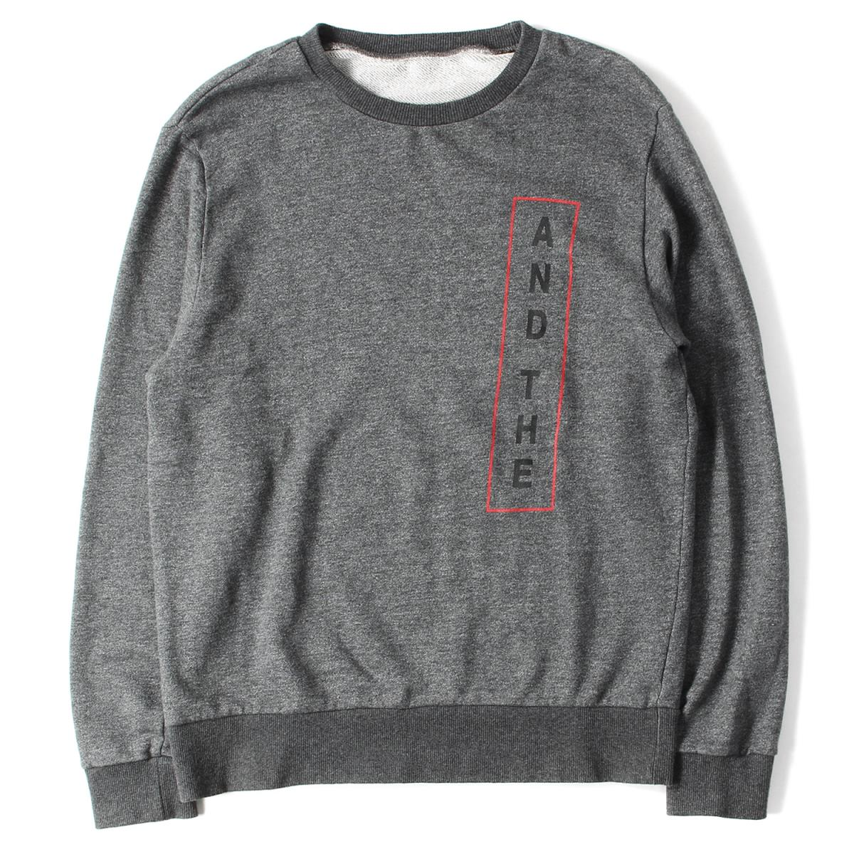THE PARK・ING GINZA (ザ・パーキングギンザ) AND THEロゴクルーネックスウェット 美品 グレー L 【K2000】【中古】【あす楽☆対応可】