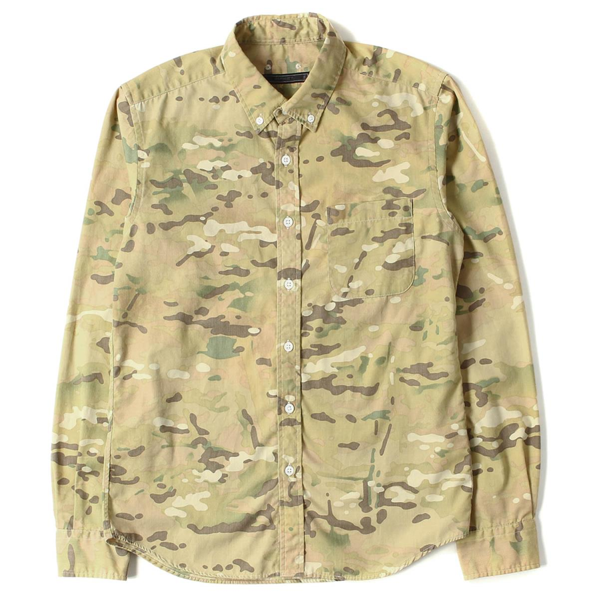 454c23bf2a SOPHNET. (ソフネット) 14S S multi-cam camouflage button-down shirt (CAMOUFLAGE  BUTTON DOWN SHIRT) multi-cam S
