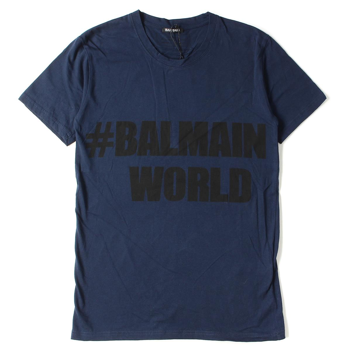 8f231ec4 BALMAIN HOMME (バルマンオム) 16A/W #BALMAIN WORLD print cotton T-shirt ...