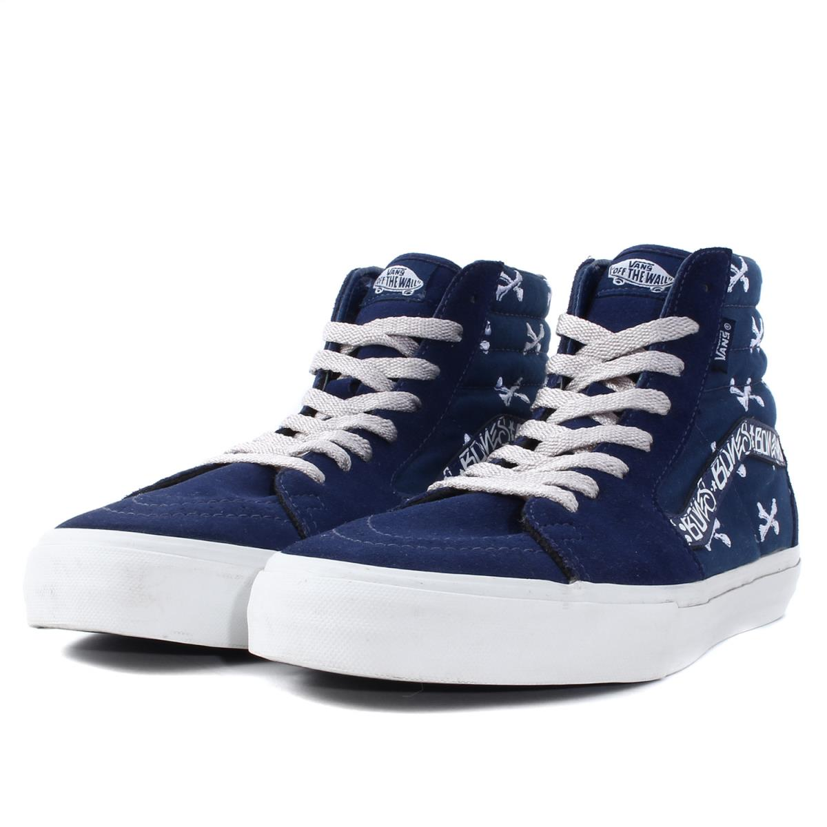 c445848c50f8dd WTAPS (double taps) X VANS SK8-HI SYNDICATE CROSS BONE blue beauty product  US9.5(27.5cm)