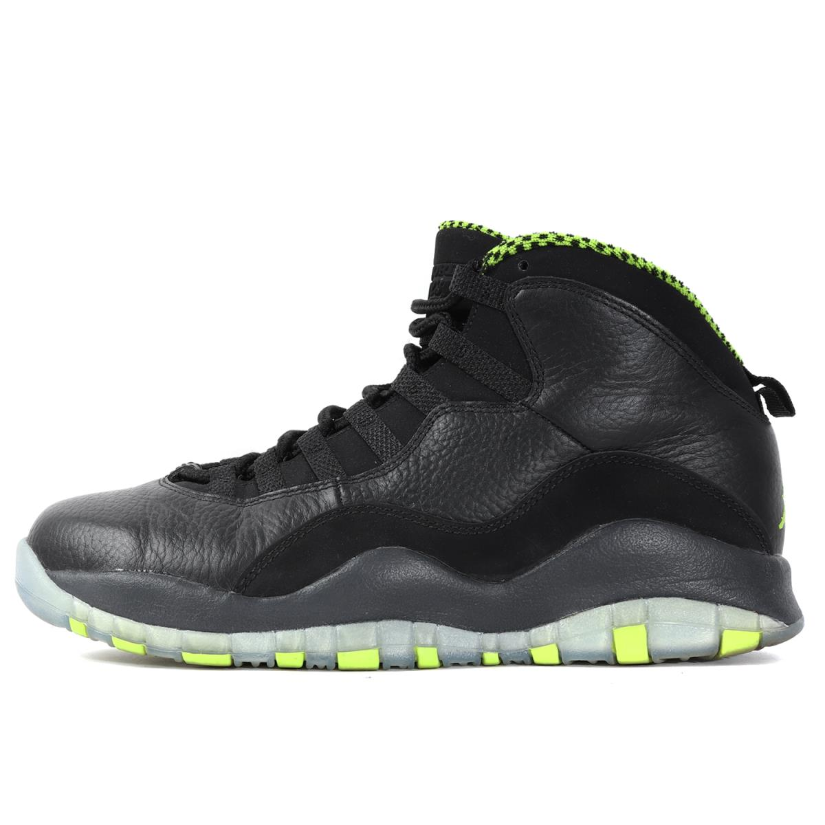 official photos 083ea 8cec8 NIKE (Nike) AIR JORDAN 10 RETRO VENOM GREEN (310,805-033) black X ベノムグリーン  US8.5(26.5cm)