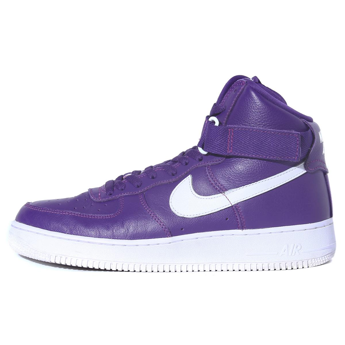 NIKE (ナイキ) NIKELAB AIR FORCE 1 HIGH RETRO QS COLOR OF THE MONTH PACK パープル US10.5(28.5cm) 【美品】【K1888】【中古】【あす楽☆対応可】