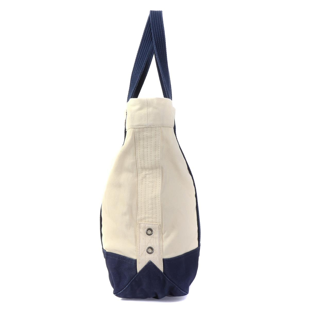 d7f31f9966 POLO by Ralph Lauren (polo by Ralph Lauren) big pony canvas tote bag natural  X navy