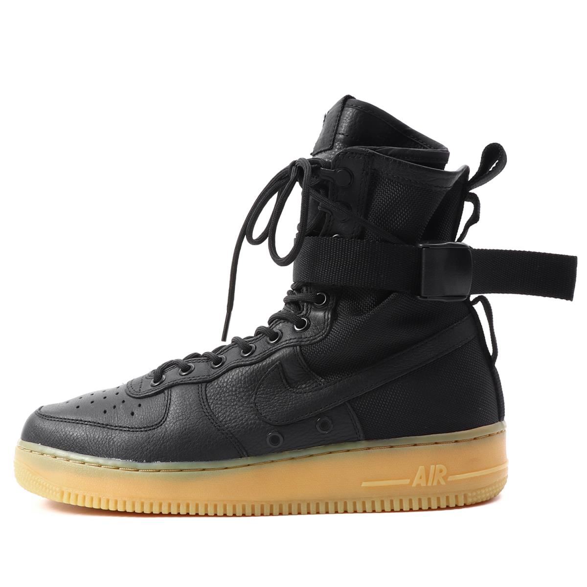 NIKE (ナイキ) SPECIAL FIELD AIR FORCE 1 (859202-009) ブラック×ガムライト US10(28cm) 【新品同様】【K1935】【中古】【あす楽☆対応可】