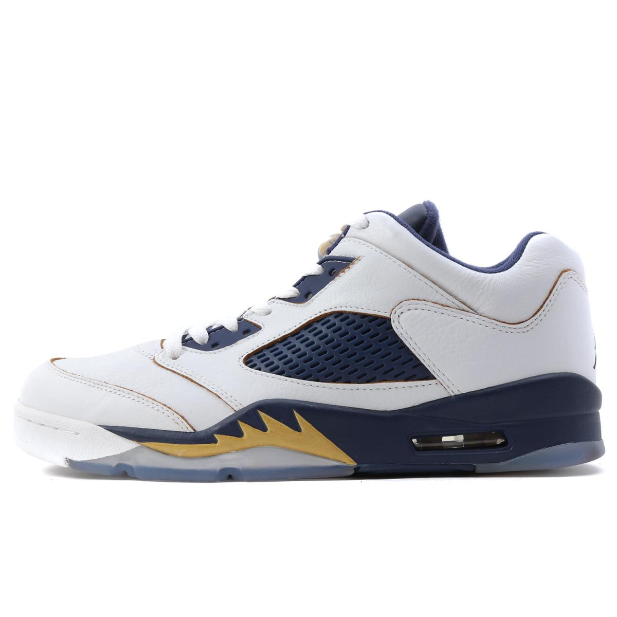 hot sale online c509a f3a0d NIKE (Nike) AIR JORDAN 5 RETRO LOW (819,171-135) white X metallic gold X  midnight navy US10(28cm)
