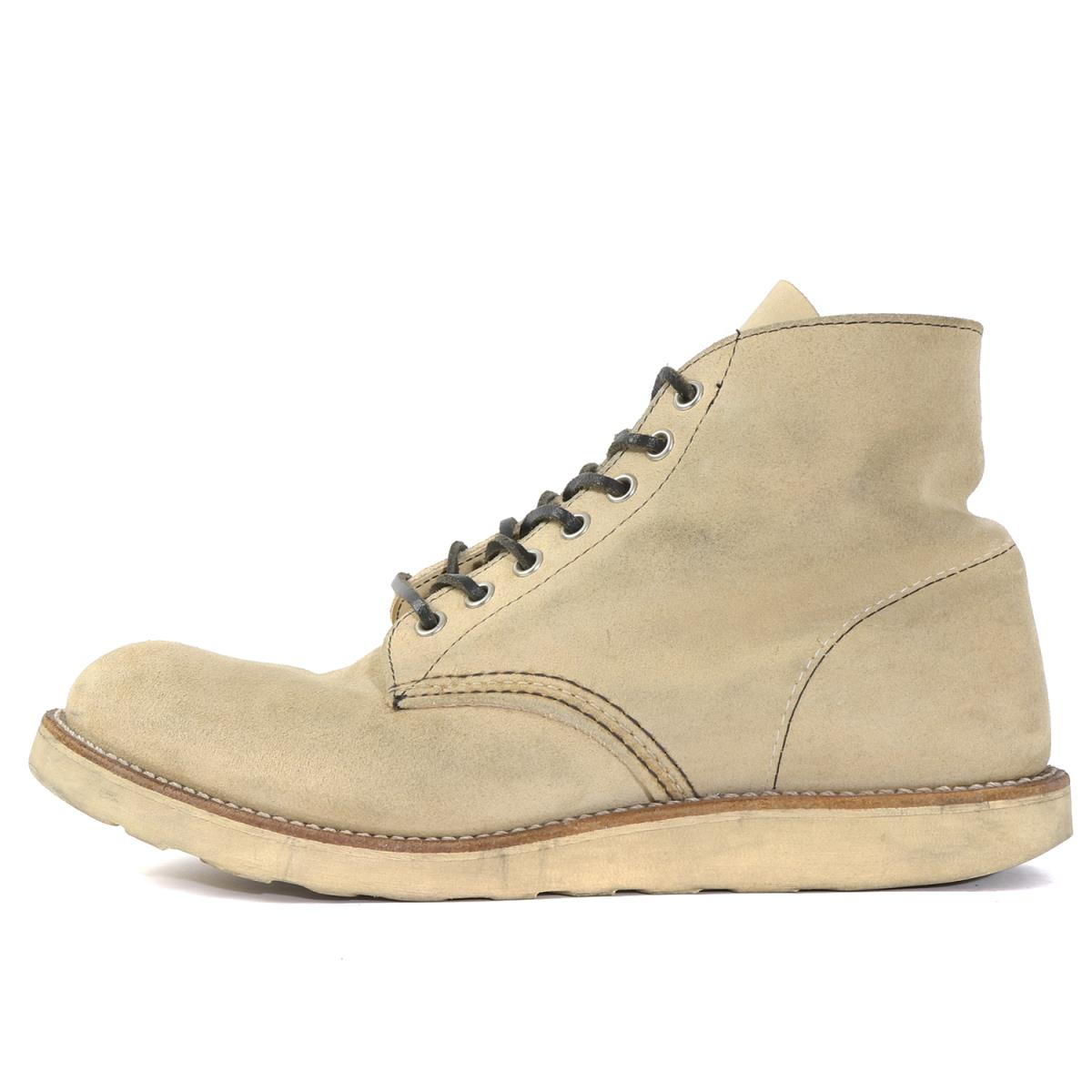 Red Wing (レッド ウィング) 12' 8167 プレーントゥブーツ(6inch PLAIN TOE) ベージュ US9.5 D(27.5cm) 【K1949】【中古】【あす楽☆対応可】