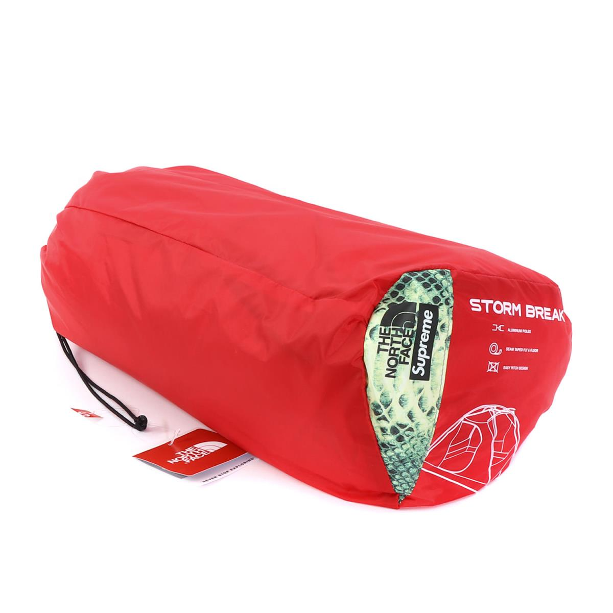 Supreme (シュプリーム) 18S/S ×THE NORTH FACE スネーク柄テント(Snakeskin Taped Seam 3 Tent) グリーンスネーク 【K1960】【あす楽☆対応可】