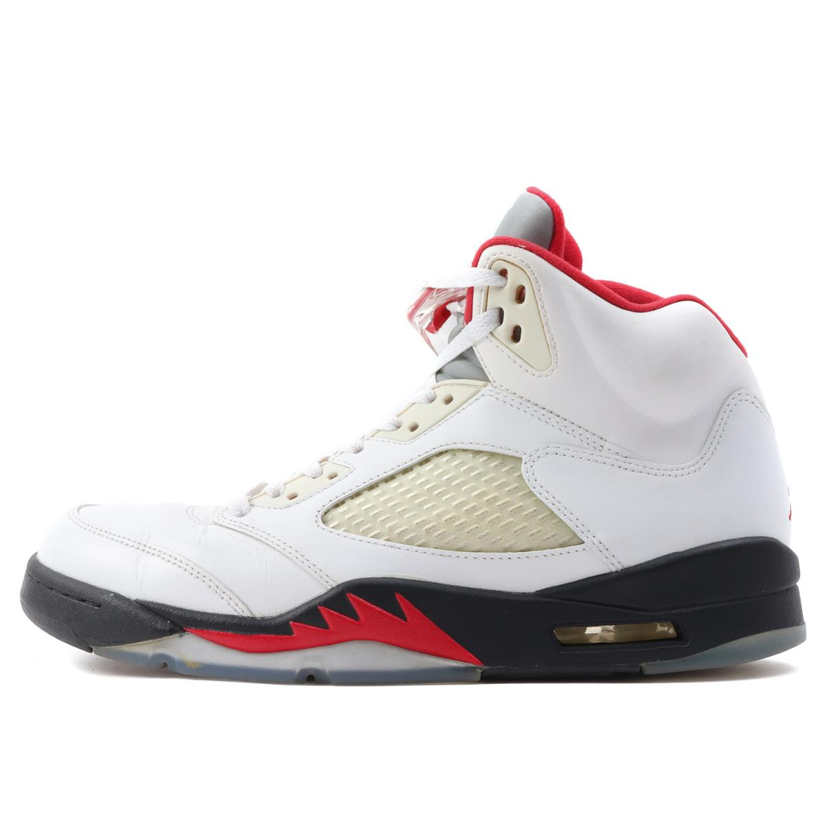 newest collection 40e1c 69469 NIKE (Nike) AIR JORDAN 5 RETRO FIRE RED (  136,027-100 made in 2012) white  X fire red US9.5(27.5cm)