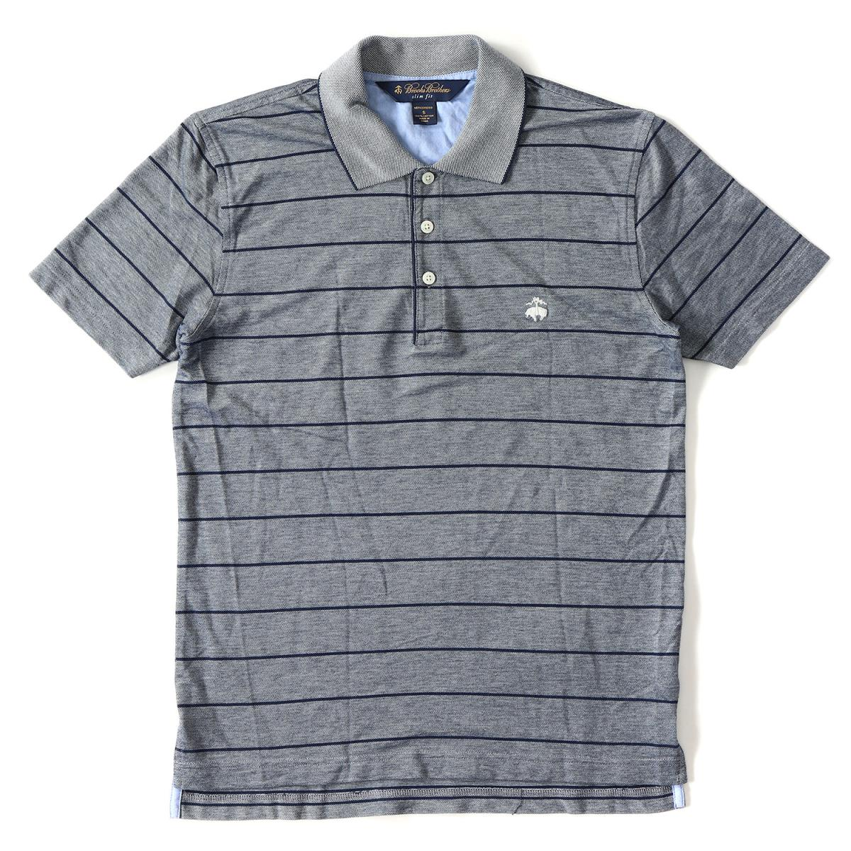 940b089d BROOKS BROTHERS (Brooks Brothers) icon embroidery horizontal stripe fawn  cotton short sleeves polo shirt ...