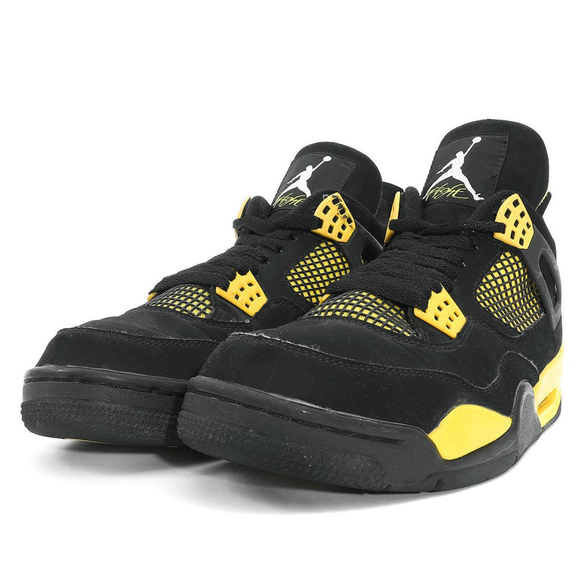 competitive price 2cd51 993bf NIKE (Nike) AIR JORDAN 4 RETRO THUNDER (308,497-008) black X tour yellow  US9(27cm)