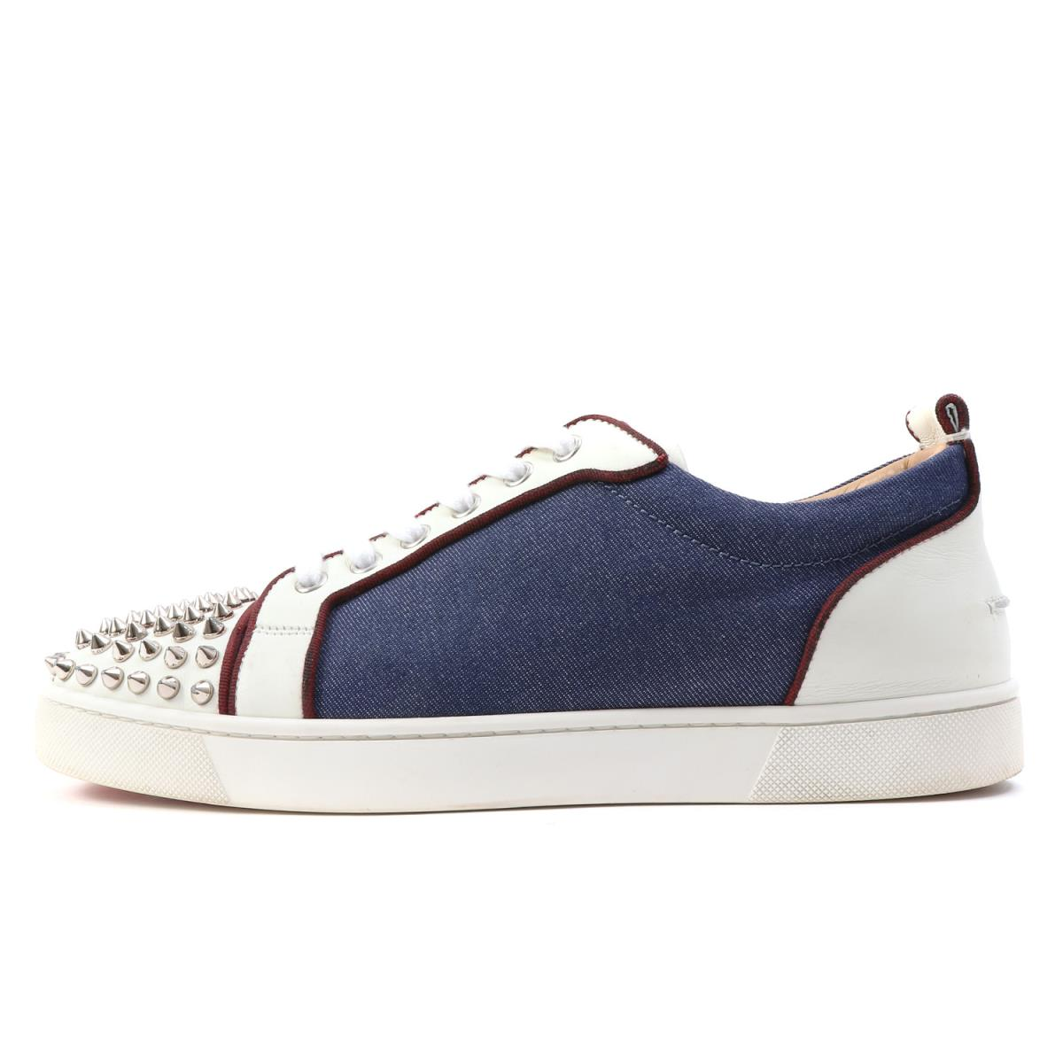 sports shoes 2d4bf 071f9 Denim reshuffling low-frequency cut sneakers (LOUIS JUNIOR SPIKES ORLATO)  white X indigo 40 1/2 with Christian Louboutin (クリスチャンルブタン) 17S/S spikes ...