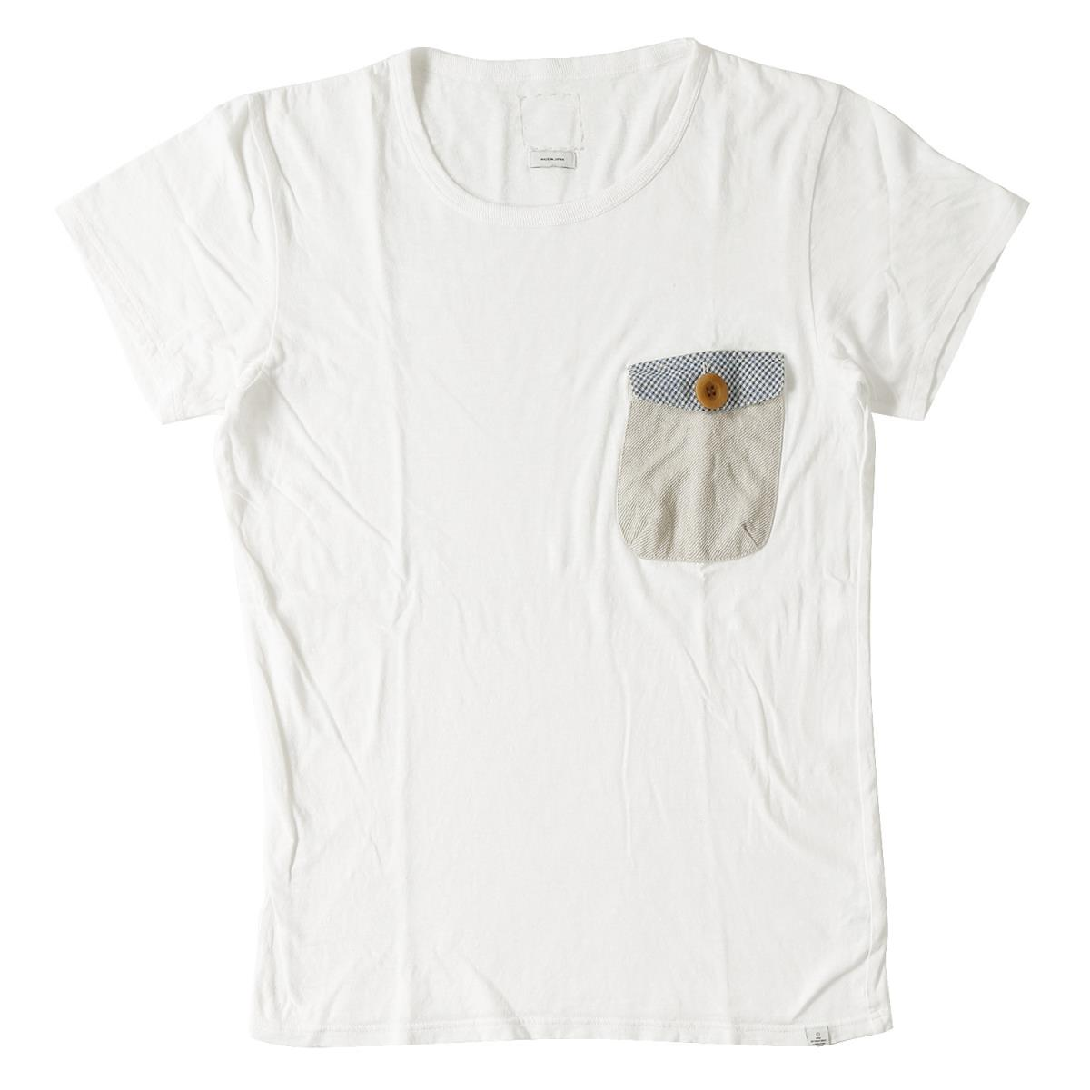8f4ab872 BEEGLE by Boo-Bee: T-shirt (FLAP POCKET TEE S/S) white 2 with the ...