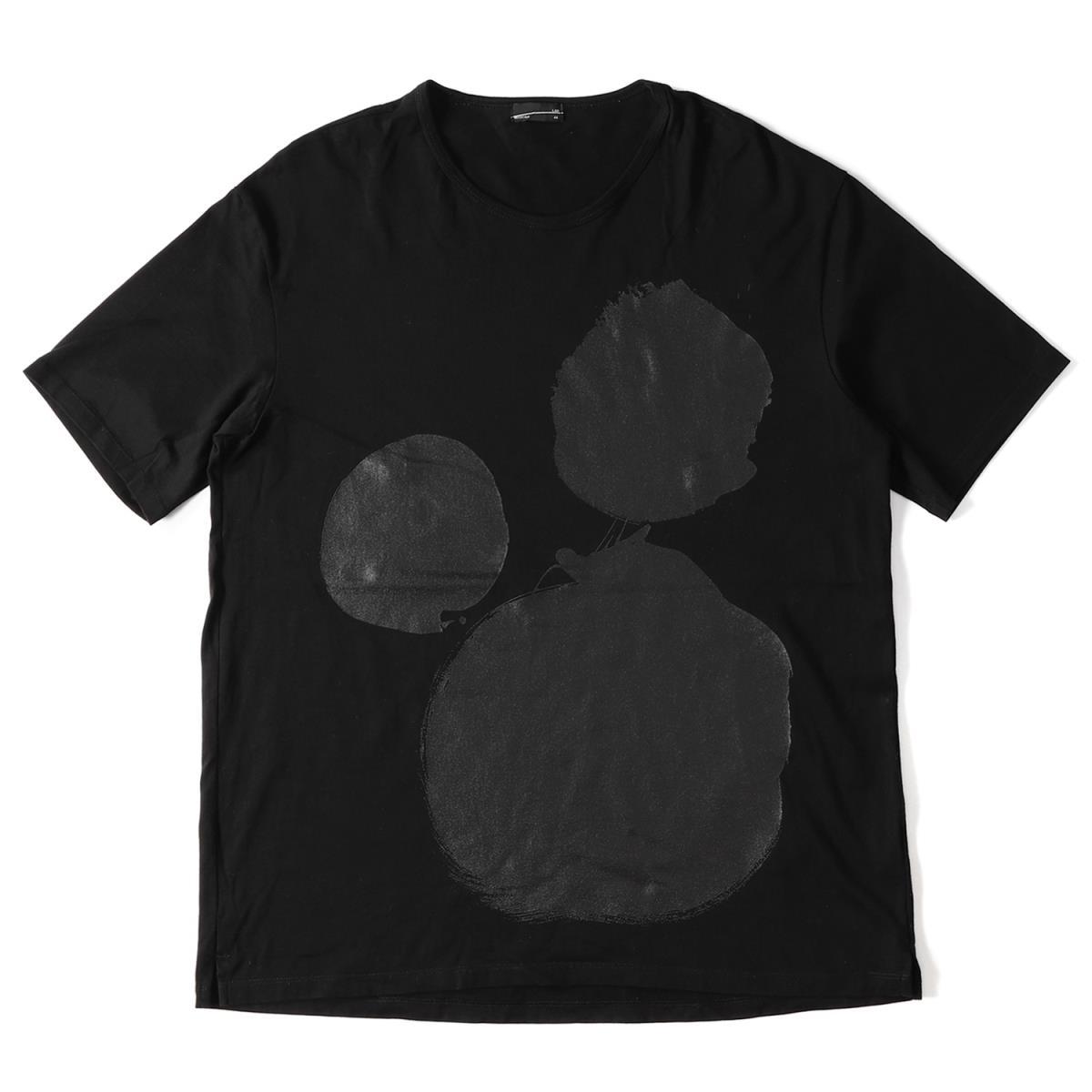LAD MUSICIAN (ラッドミュージシャン) 17S/S サークルプリントコットンクルーネックTシャツ(BIG T-SHIRT) ブラック 44【美品】【メンズ】【K2026】【中古】【あす楽☆対応可】