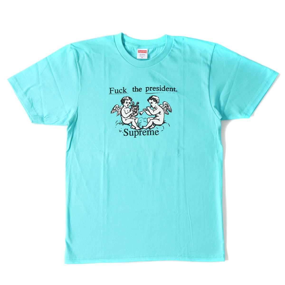Supreme (シュプリーム) 17S/S エンジェルグラフィックTシャツ(FTP Tee) アクア M 【メンズ】【K2028】【あす楽☆対応可】