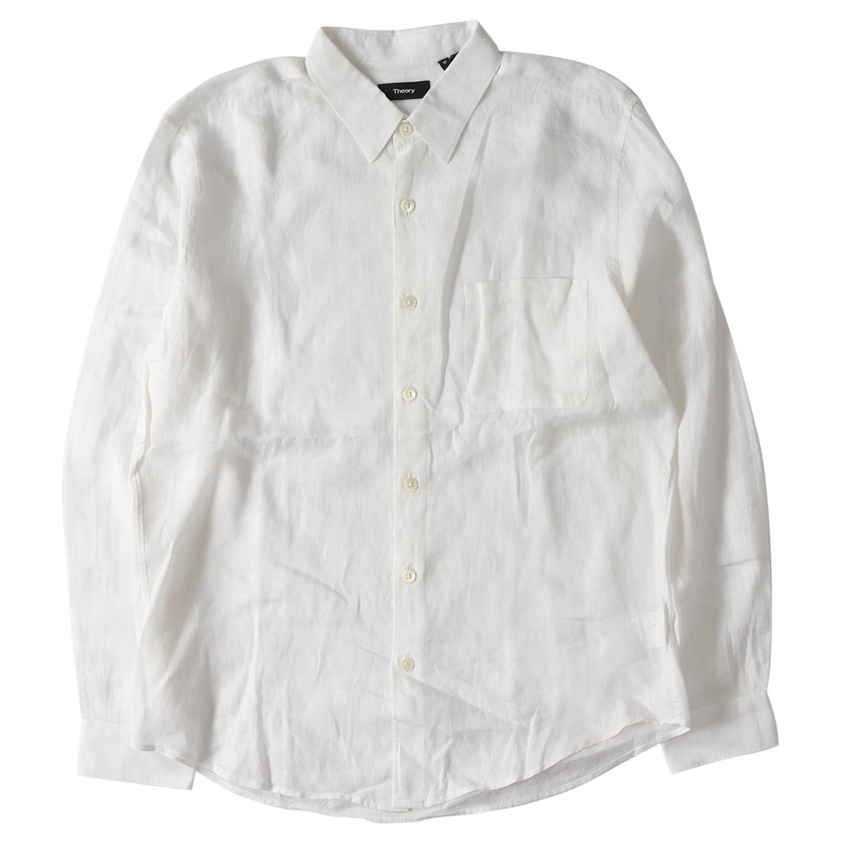 6f8aea95031 BEEGLE by Boo-Bee  theory (theory) 17S S plane linen button shirt ...