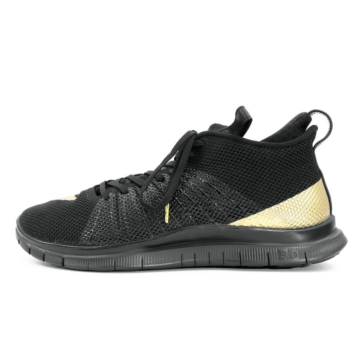 NIKE (ナイキ) ×Olivier Rousteing NikeLab FREE HYPERVENOM 2 (852708-076) ブラック×メタリックゴールド US10(28cm) 【メンズ】【美品】【K2031】【中古】【あす楽☆対応可】