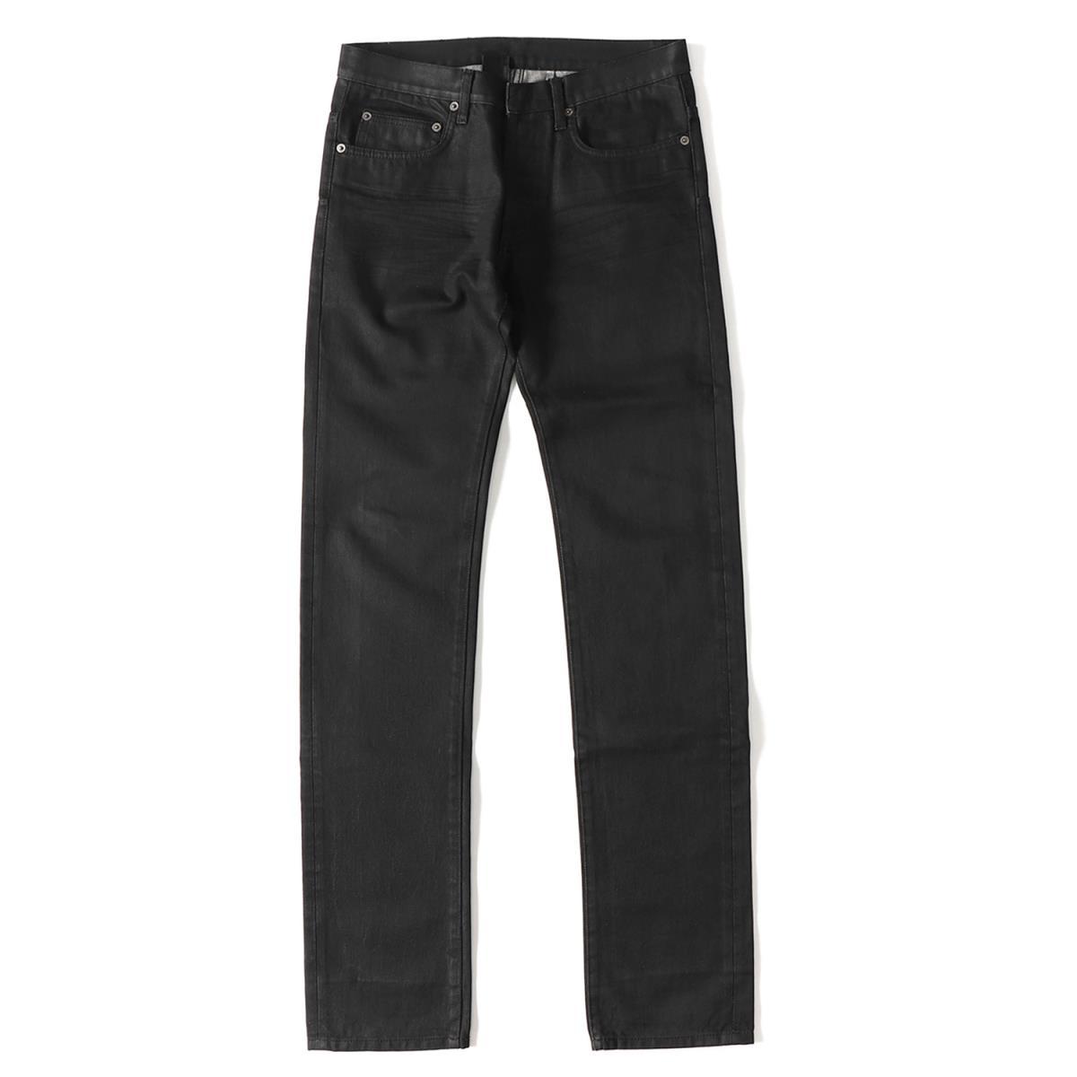 Dior HOMME (ディオールオム) 06A/W ラスターコーティング加工スリムデニムパンツ ブラック 29 【メンズ】【K2037】【中古】【あす楽☆対応可】