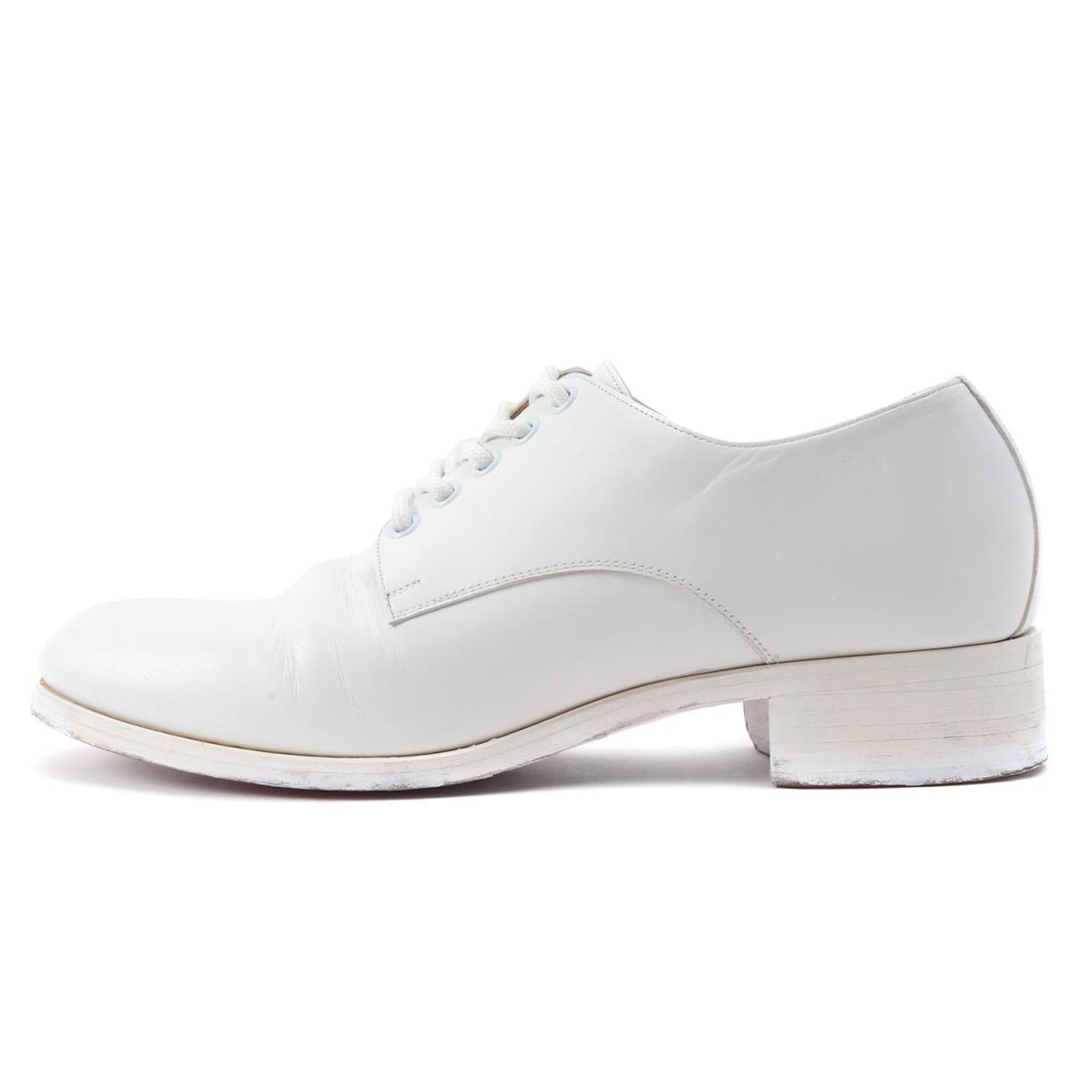 the latest c44d4 d813a Christian Louboutin (クリスチャンルブタン) leather race up shoes white 40